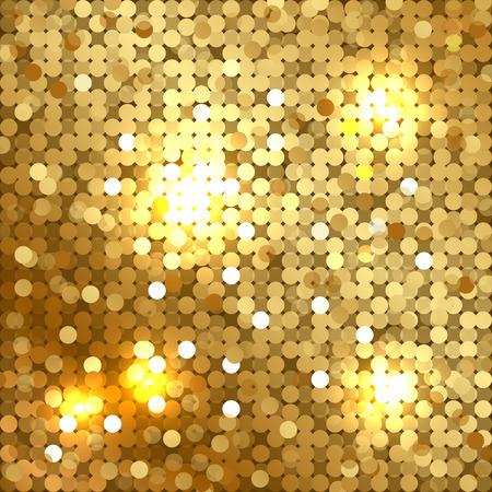 Ilustración de Vector shiny background with gold sequins - Imagen libre de derechos