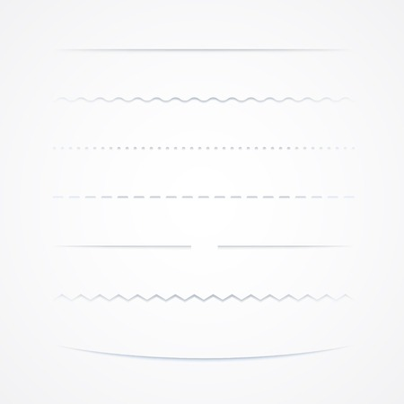 Set Of Dividers, Isolated On White Background, Vector Illustration