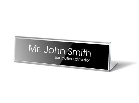 Name holder for events. Vector illustration
