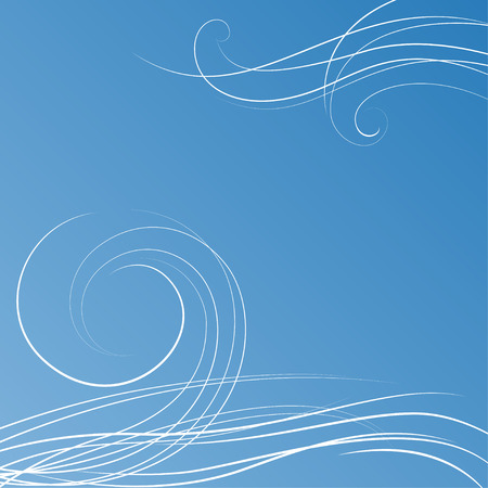 Illustration pour Abstract blue background with some swirls - image libre de droit