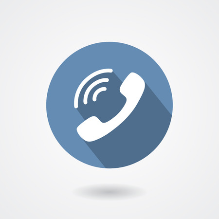 Illustration pour Ringing phone handset icon isolated on white background.  sign - image libre de droit