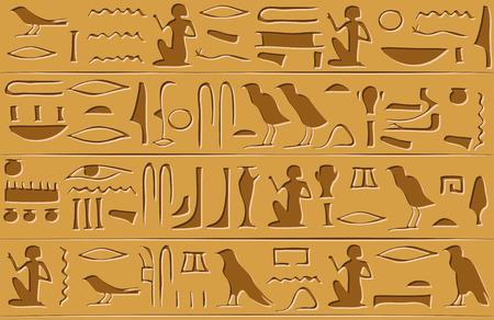 Egyptian hieroglyphs seamless pattern. Vector illustration EPS8