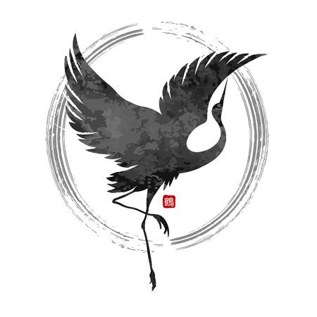 Ilustración de dancing cranes vector - Imagen libre de derechos