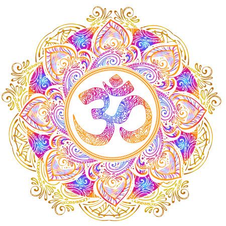 Ilustración de Isolated image mandala vector illustration. - Imagen libre de derechos