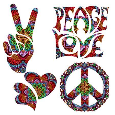 Illustration pour retro hippie symbol - image libre de droit