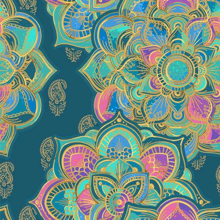 Illustration pour mandala seamless pattern - image libre de droit