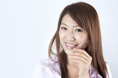 asian call center business women
