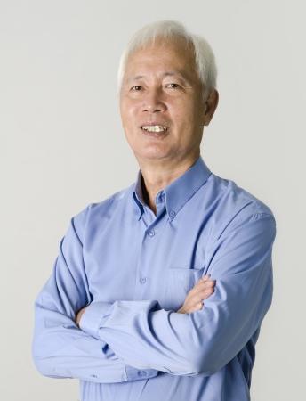 portrait of senior asian businss man