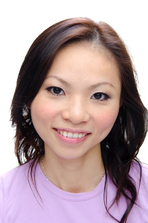 close up photo of asian girl smiling