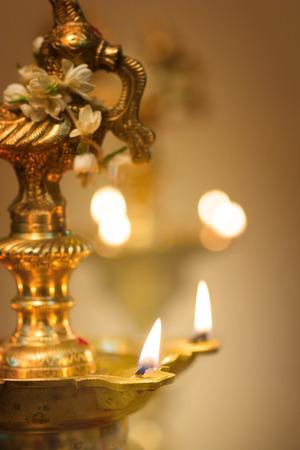 diwali oil lamp during deepavali festival
