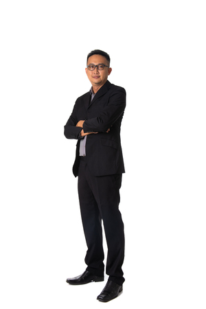 Photo pour asian business man isolated on white full body - image libre de droit