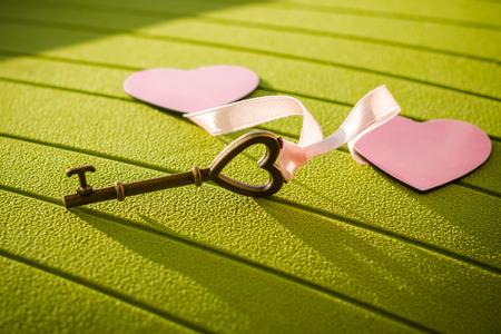 Foto per Love Happy key from my heart - Immagine Royalty Free