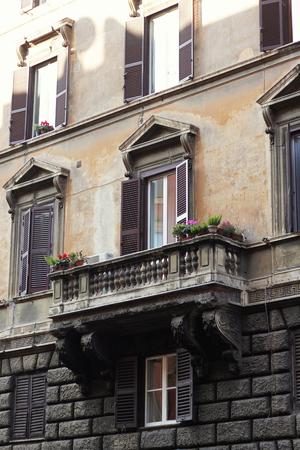 Beautifully decorated balcony in Italy
