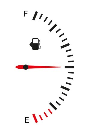 Illustration pour The fuel sensor is vertical. Flat style. Isolated on white background. Vector illustration - image libre de droit