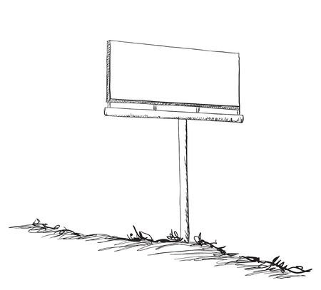 Illustration for Illustration of a Billboard. Hand drawn frame - Royalty Free Image