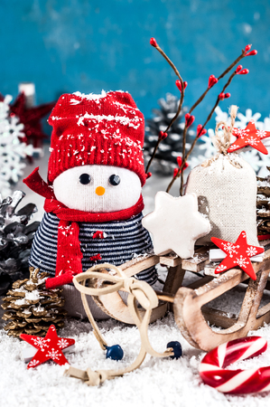 Photo pour Holiday decorations in bright colors on a white background (New Year, Christmas) - image libre de droit