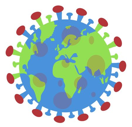 Illustration pour planet in the form of a virus - image libre de droit