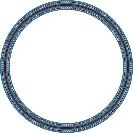 Illustration pour African traditional ornament. Round frame with floral ornament. Ancient traditions. Vector. - image libre de droit