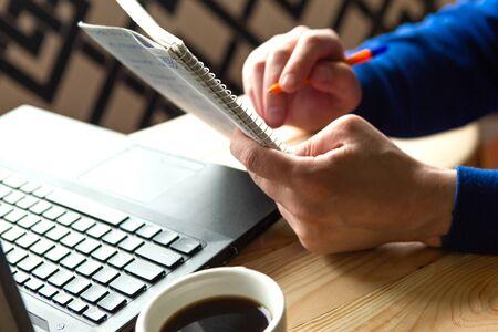 Foto für The man works at home. Freelance concept - Lizenzfreies Bild