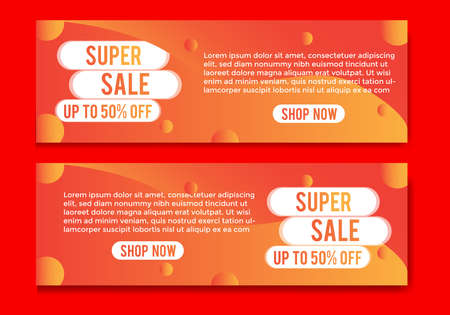 Illustration for banner with modern design colorful gradient.banner sale template - Royalty Free Image