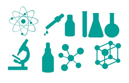 science icons isolated over white background. vector illustration