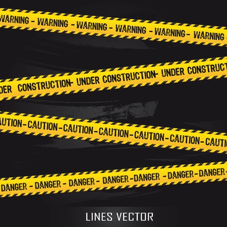 yellow lines over black background. illustration