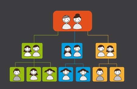 family tree over square over grey background. vector