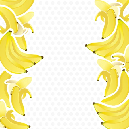 Illustration pour background decorated with bunches of bananas, vector illustration - image libre de droit