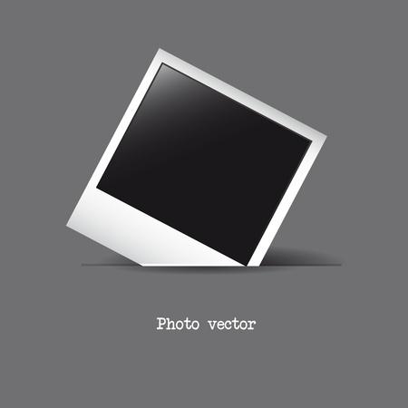 Illustration pour photo frame over gray background. vector illustration - image libre de droit
