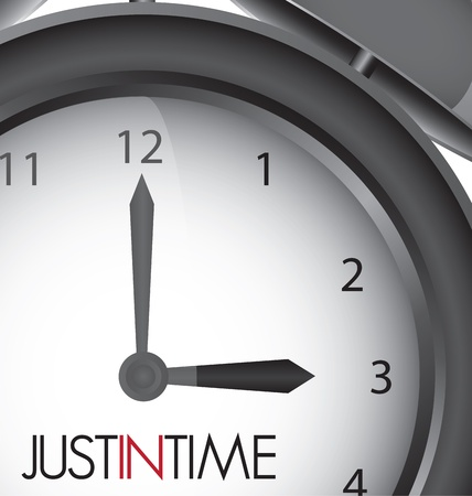 Just in time clock illustration, vector design