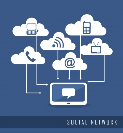 Photo for communication icons, social network. vector illustration - Royalty Free Image