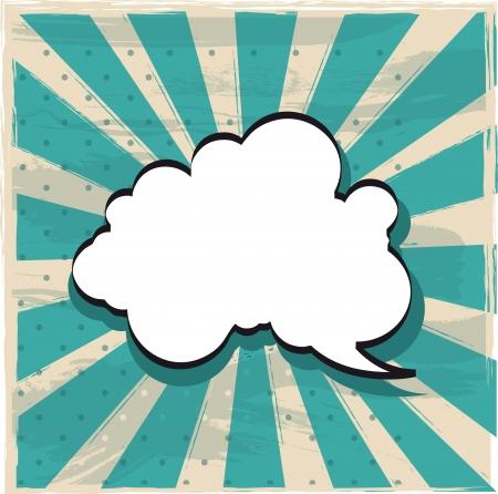 Illustration pour cloud of thought over vintage background. vector illustration - image libre de droit