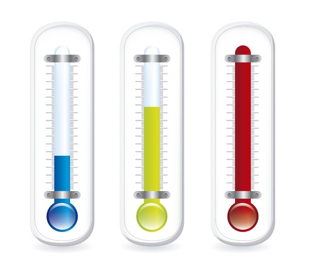 thermometer with shadow over white background