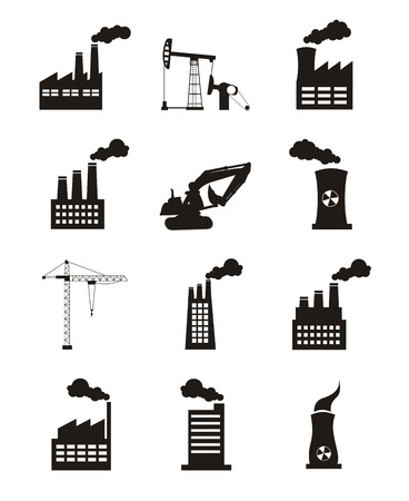 industry icons over white background. vector illustration