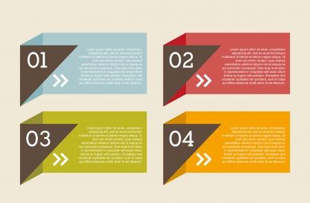 numbers labels over beige background.vector illustration