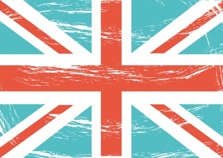 grunge flag london background vintage. vector illustration