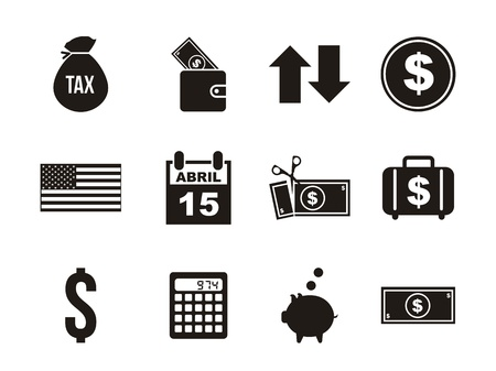 tax icons over white background. vector illustration