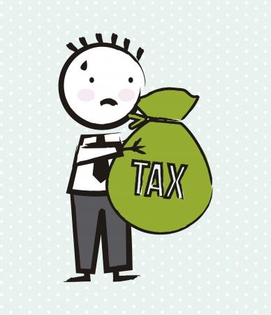 businessman cartoon over green background. vector illustration
