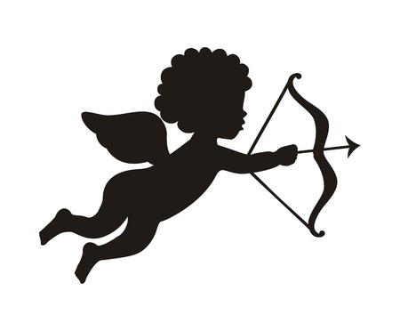 cupid isolated over white background. vector illustration