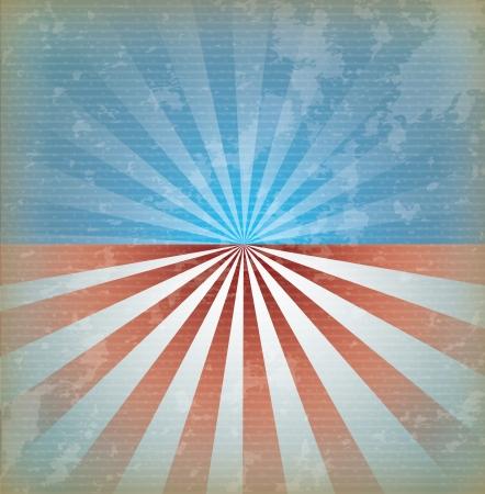 usa flag over vintage background vector illustration