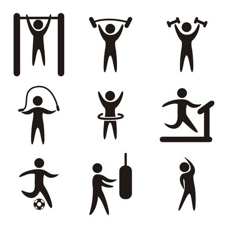 Foto de fitness icons over white background. vector illustration - Imagen libre de derechos