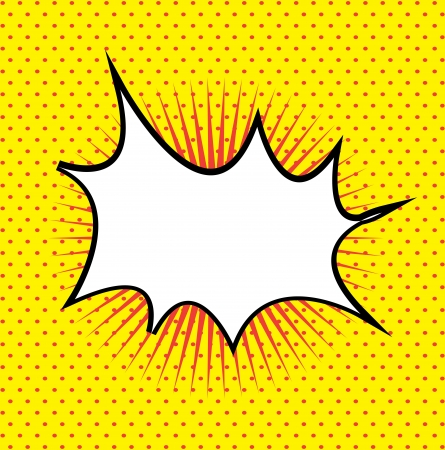comics signal over yellow background illustration