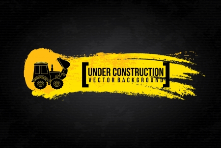 Photo for under construction design over black background vector illustration  - Royalty Free Image