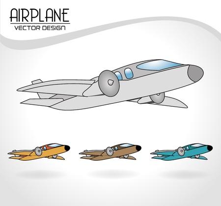 airplane design over gray background vector illustration
