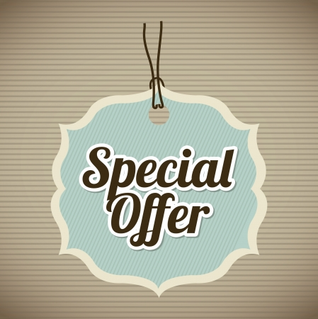special offer over vintage background