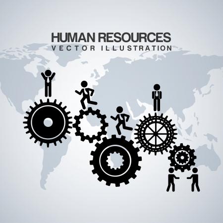 Vektor für human resources over gray background  - Lizenzfreies Bild