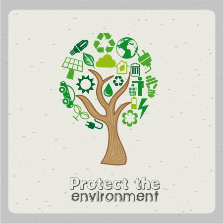 protect the environment over gray background