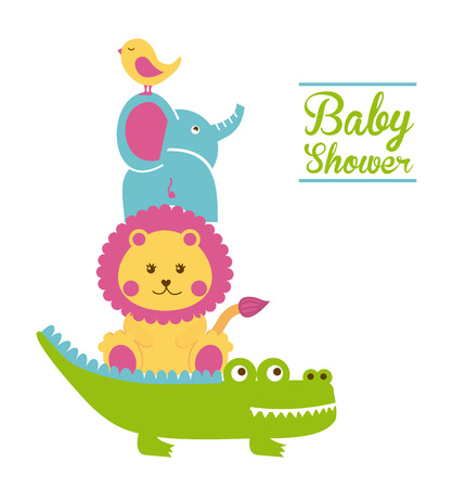 Photo for baby shower design over white background vector illustration - Royalty Free Image