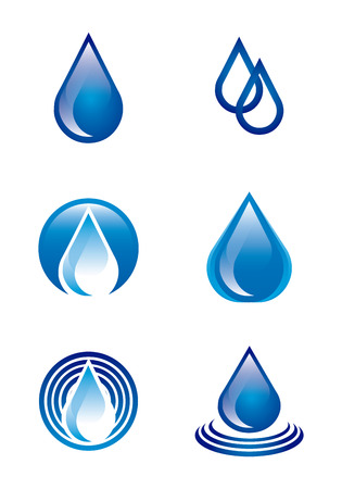 natural water over white background vector illustration