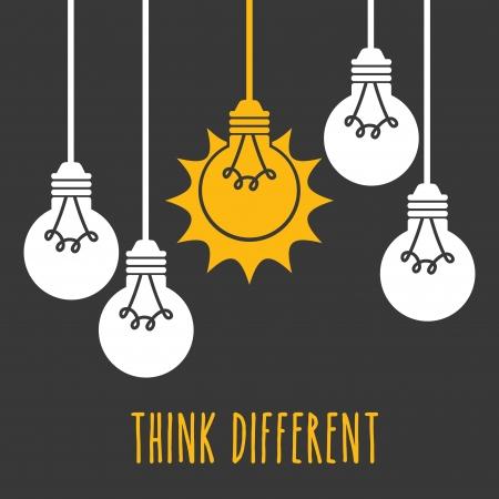 bulbs design over gray background vector illustration